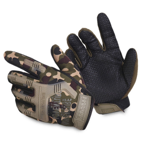 Pair of Full Finger Anti-slip Tactical Gloves for Outdoor Camping Cycling Climbing - Gearzii Outdoors