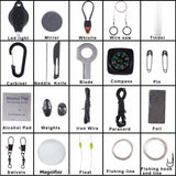 20 in 1 Paracord Outdoor Camping Survival Keychain