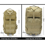 Tactical Backpack - Outdoor Sports, Camping, Everyday Use