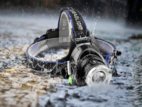 5000LM LED Waterproof Zoomable Headlamp