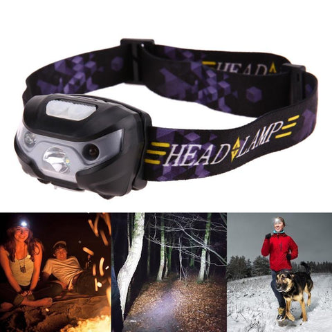 Motion Sensor Headlamp - Waterproof Mini LED Headlight