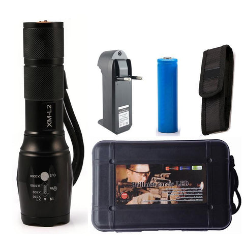 6000 Lumen Tactical, Zoomable Flashlight