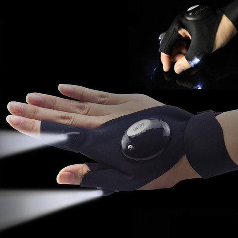 Mini Fingerless LED Light Glove - Gearzii Outdoors
