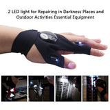 Mini LED Light Fingerless Glove - Outdoors Essentials