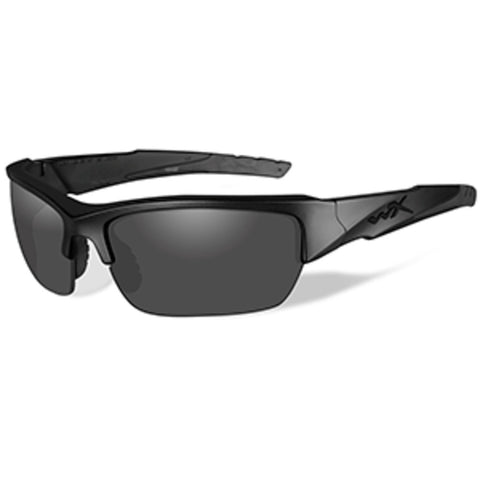 Wiley X Valor Black Ops Polarized Sunglasses - Smoke Grey Lens - Matte