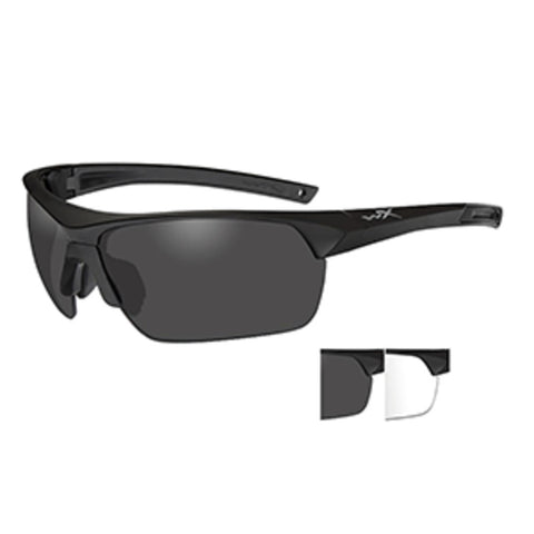 Wiley X Guard Advanced Sunglasses - Smoke Grey/Clear Lens - Matte Blac