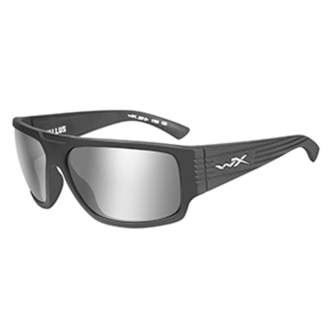 Wiley X Vallus Sunglasses - Grey Silver Flash Lens - Matte Graphite Fr