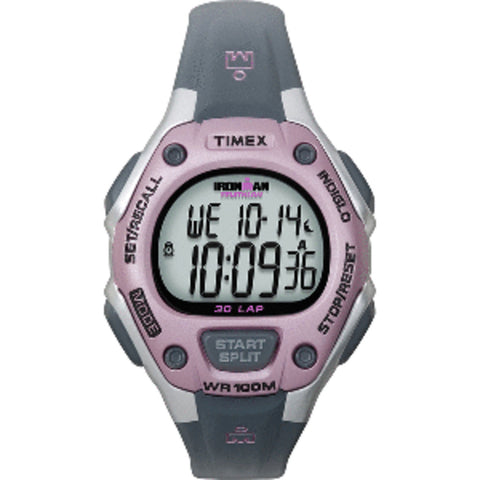 Timex IRONMAN 30-Lap Mid-Size Watch - Pink/Grey
