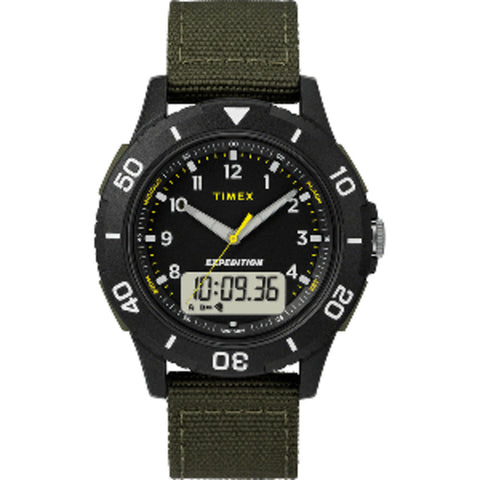 Timex Expedition Katmai Combo 40mm Watch - Black Case & Dial/Green