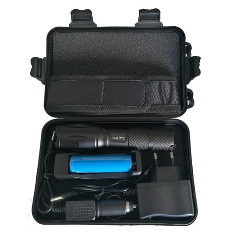 High Power Adjustable LED Flashlight