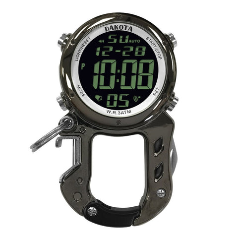 Dakota Digital Zip Clip Bottle Opener Watch Gunmetal