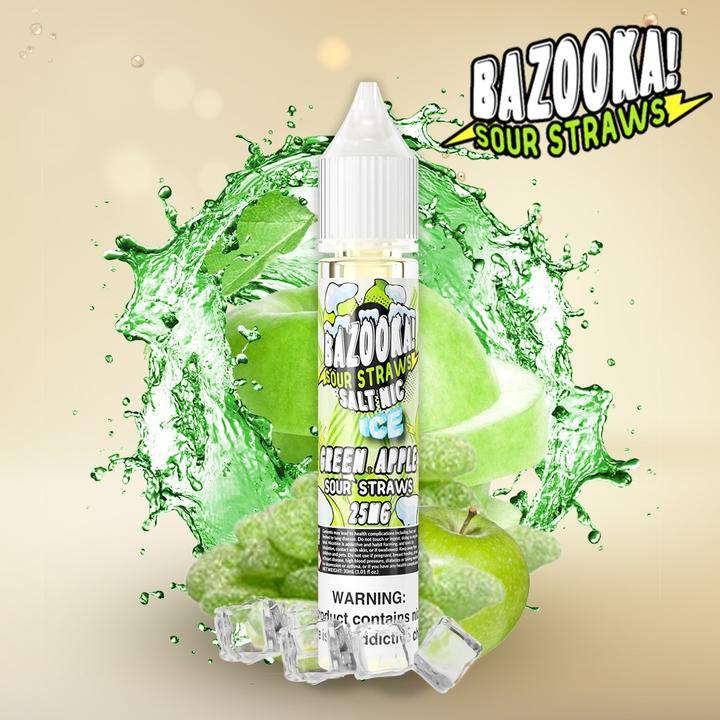 Bazooka Green apple Ice Sour Straws SaltNic
