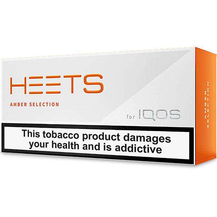 IQOS HEETS Amber Selection / Label