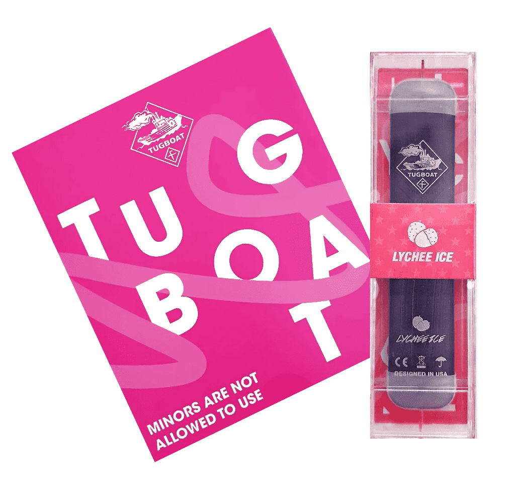 Lychee Ice - TUGBOAT V2 DISPOSABLE POD DEVICE (Pack of 3)
