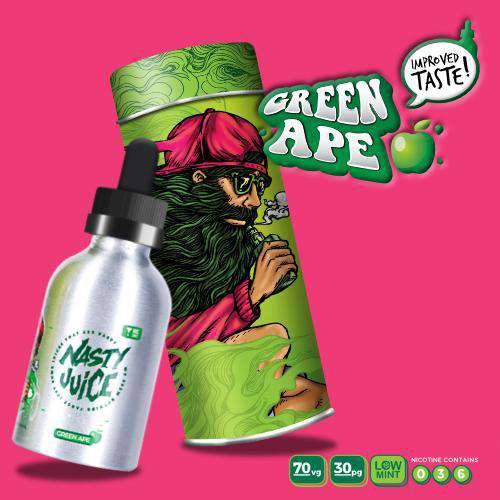 Green Ape (Yummy Fruity) - Nasty Juice [New Look!!] - Gulf Vapors