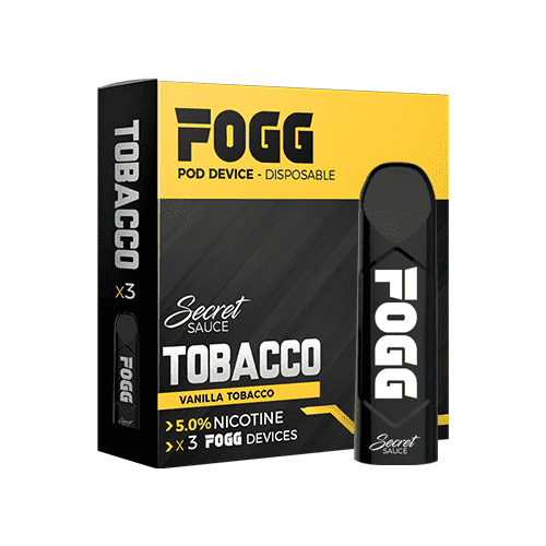Fogg Pod device - Secret Sauce Tobacco - Gulf Vapors