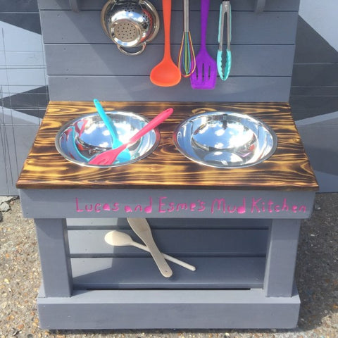 Mud Kitchen, double bowl