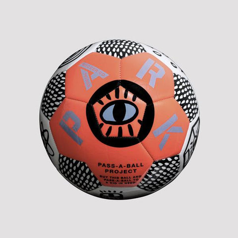 Park Social Soccer ball, neon orange