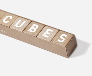 Word Cubes White