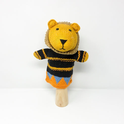 Organic Cotton Hand Puppet – Lion