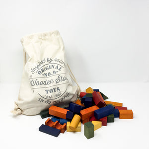 100 Eco-friendly Rainbow Building Blocks