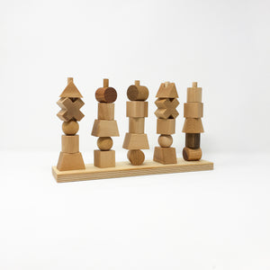 Natural Wooden Stacking Toy