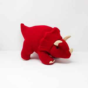Tommy the Knitted Triceratops – Large
