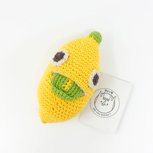 Organic Cotton Rattle – Lemon