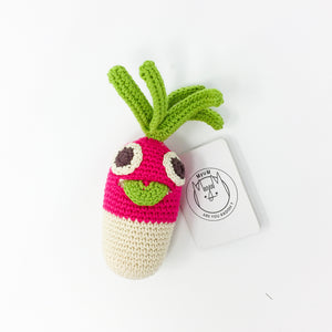 Organic Cotton Rattle – Radish