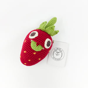 Organic Cotton Rattle – Strawberry