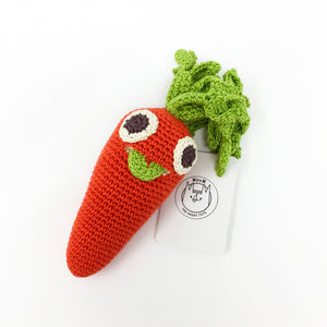 Organic Cotton Rattle – Carrot