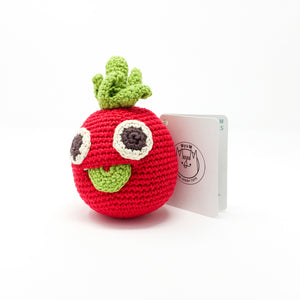 Organic Cotton Rattle – Tomato