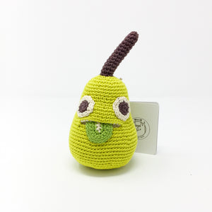 Organic Cotton Rattle – Pear