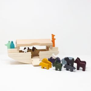 Solid Wood Noah's Ark