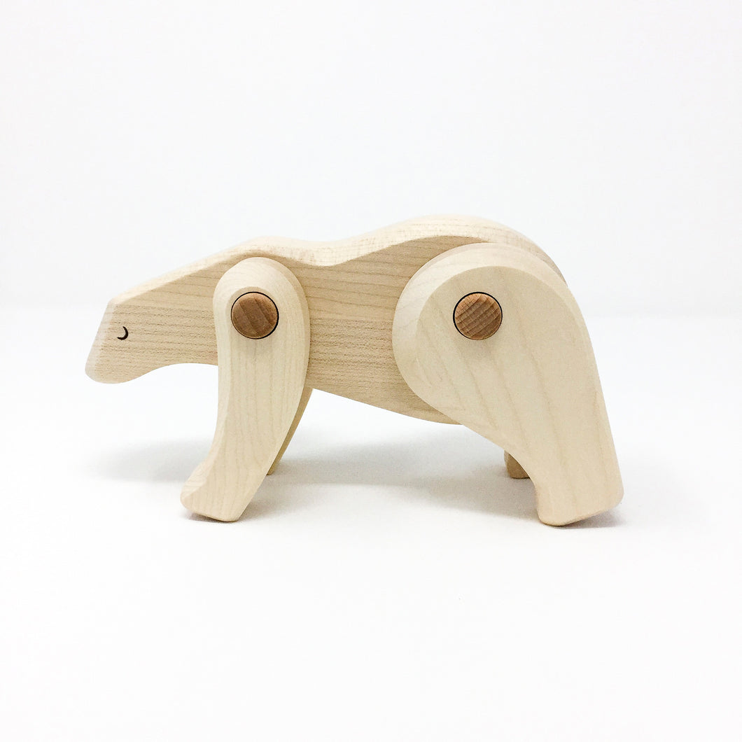 Solid Wood Polar Bear
