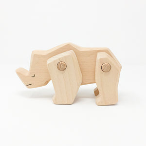 Solid Wood Rhinoceros