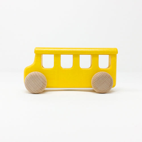 Solid Wood Yellow School Bus