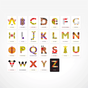 Christmas Alphabet Flash Cards