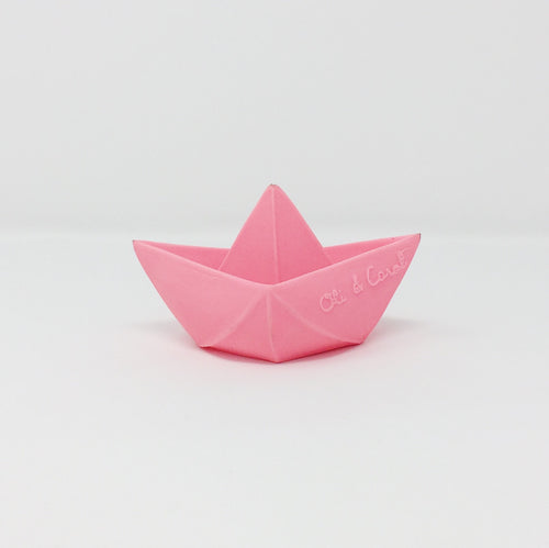 Origami Boat Natural Bath Toy – Pink