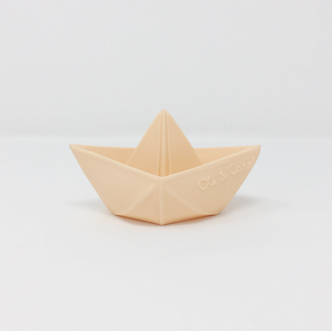 Origami Boat Natural Bath Toy – Nude