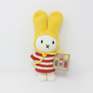 Miffy with Red Striped Dress & Yellow Hat