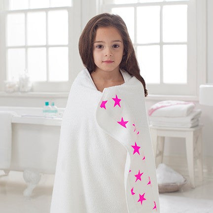 Fluro Pink Toddler Towels by Aden and Anais