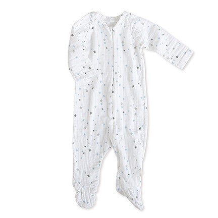 Night Sky Starburst Long Sleeve Zipper One-Piece by Aden & Anais