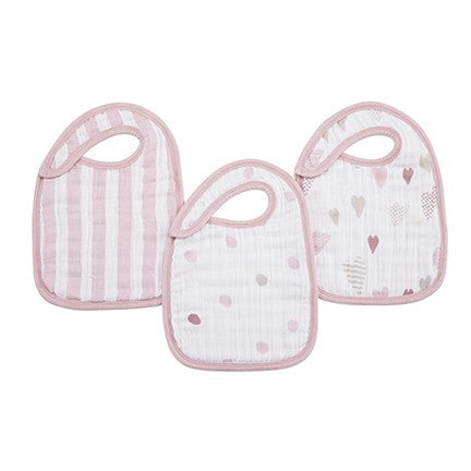 Heartbreaker Classic 3 Pack Snap Bibs by Aden and Anais
