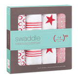 Classic Red 4 Pack Swaddles by Aden and Anais