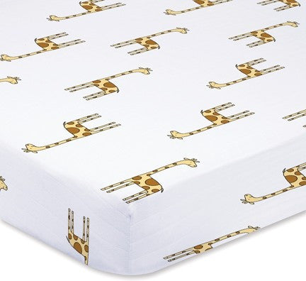 Jungle Jam Giraffe Cot Sheet by Aden and Anais