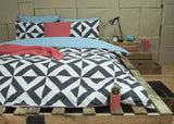 NYALLO - CHARCOAL REVERSIBLE QUILT COVER SET BY ARDOR