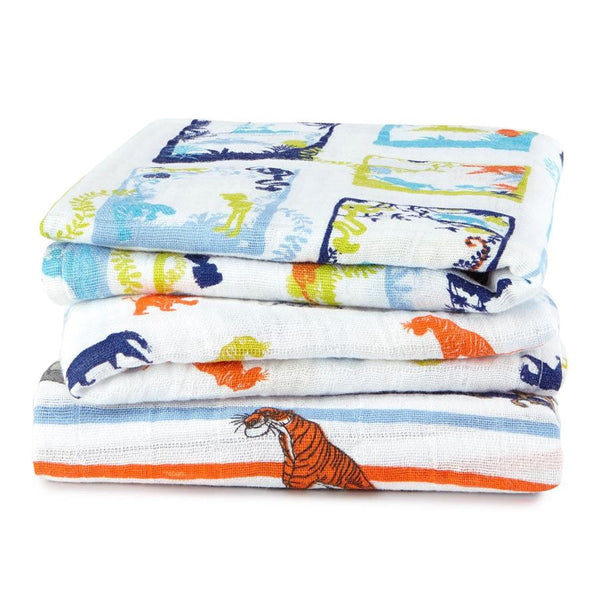 Jungle Book Disney Baby 3 Pack Muslin Squares by Aden and Anais