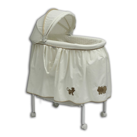 Babyhood Bassinet Cream 4 Animal - Bonus Net & Toys