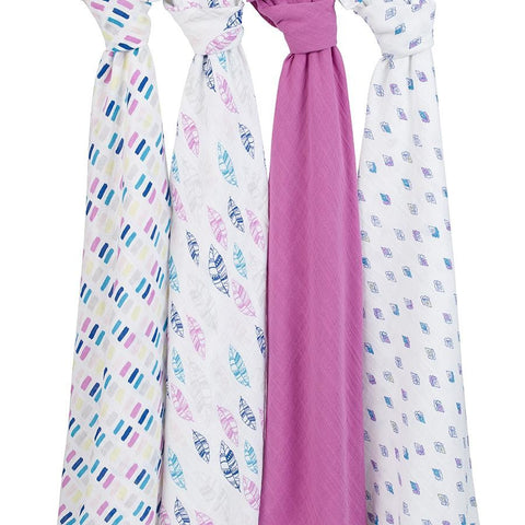 Wink 4 Pack Classic Swaddles by Aden and Anais